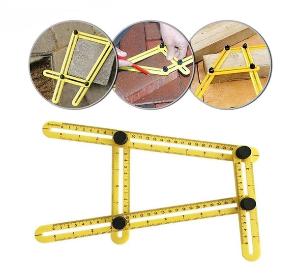 Multi-Functional Four Folding Angle Measuring Tool