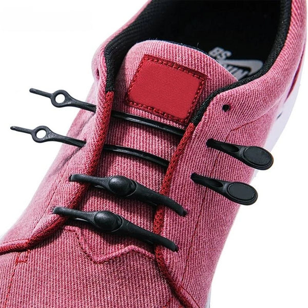 NoTie - 12 Silicone Elastic No Tie Shoe Laces