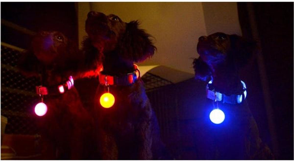 LED Flash Dog Collar Pendant