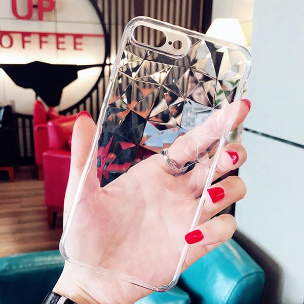 3D Diamond Shape Mobile Phone Cover