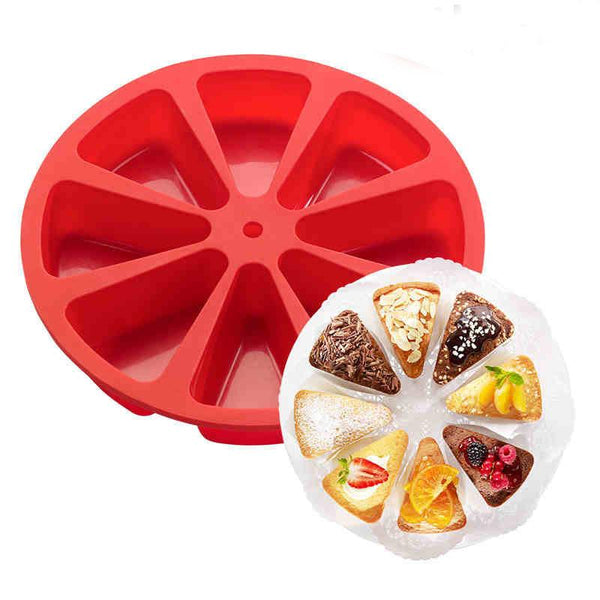 Marther - Individual Cake Slice Silicone Baking Mold