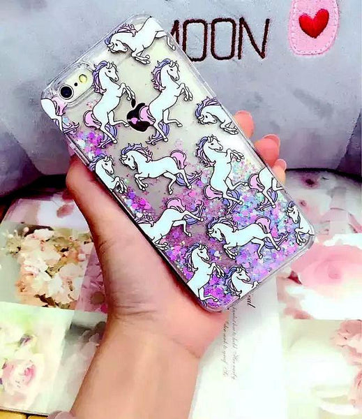 Glitter Unicorn iPhone Case