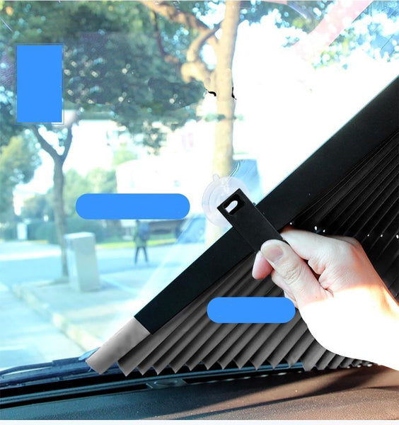Retractable Front Windshield Sunshade