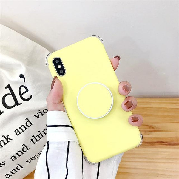 Candee - Matte Silicone iPhone Cover with Ring