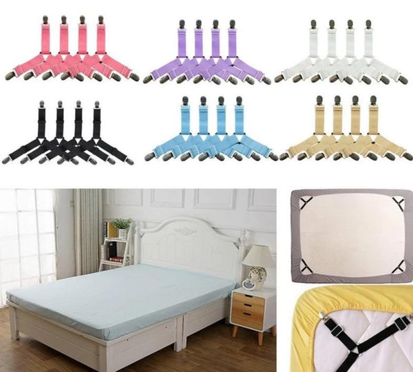 HoldTight - 4 Piece Elastic Bed Sheet Clips
