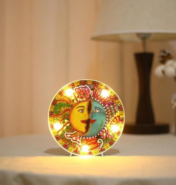 DIY Diamond Painting LED Lamp