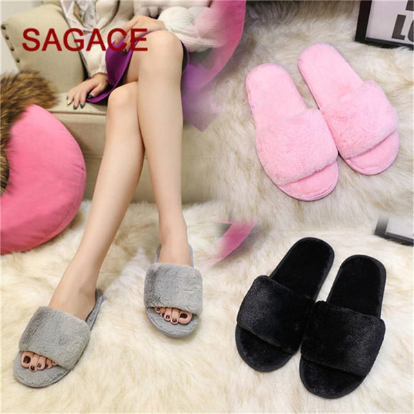 Faux Fur Fluffy Slippers