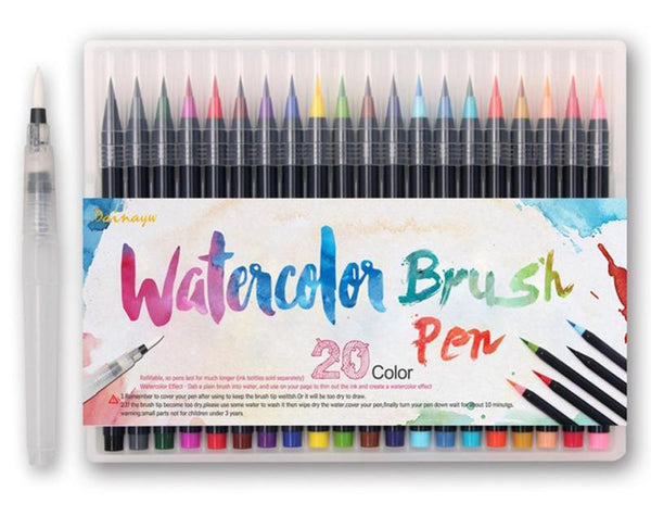 Monet - Watercolor Brush Pens (20 Piece Set)