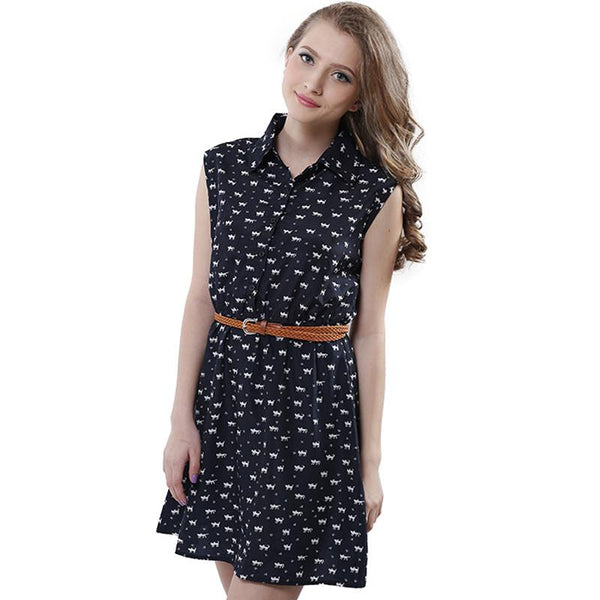 The Crazy Cute Cat Footprints Dress