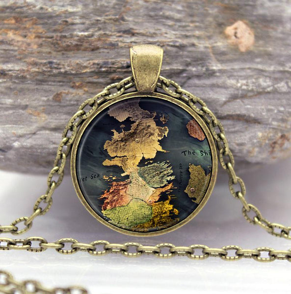Westeros Map Pendant - Game of Thrones