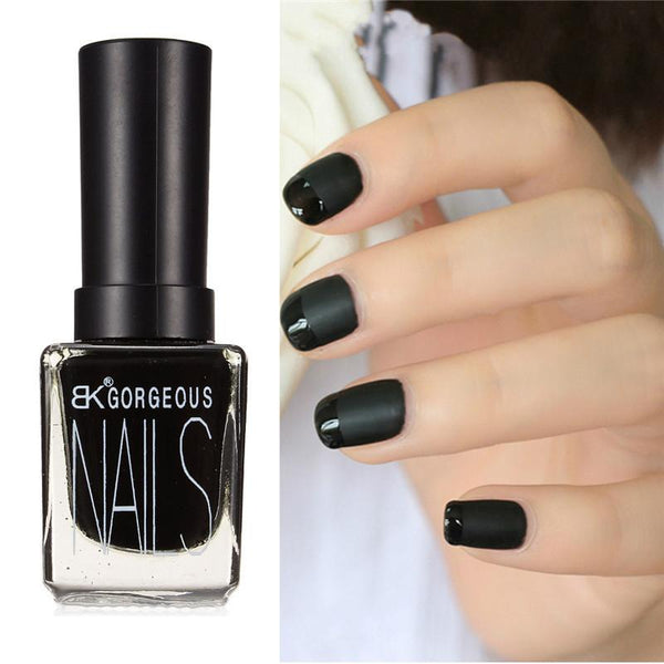 Bk Matte Black Nail Polish Sugar Cotton