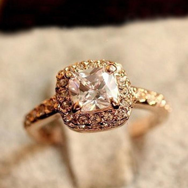 Princess Cut Gold Ring