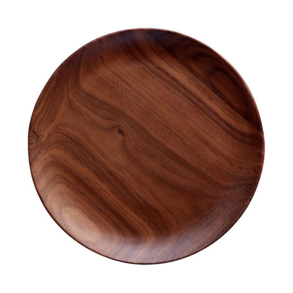 Hand-Made Round Natural Wooden Plates