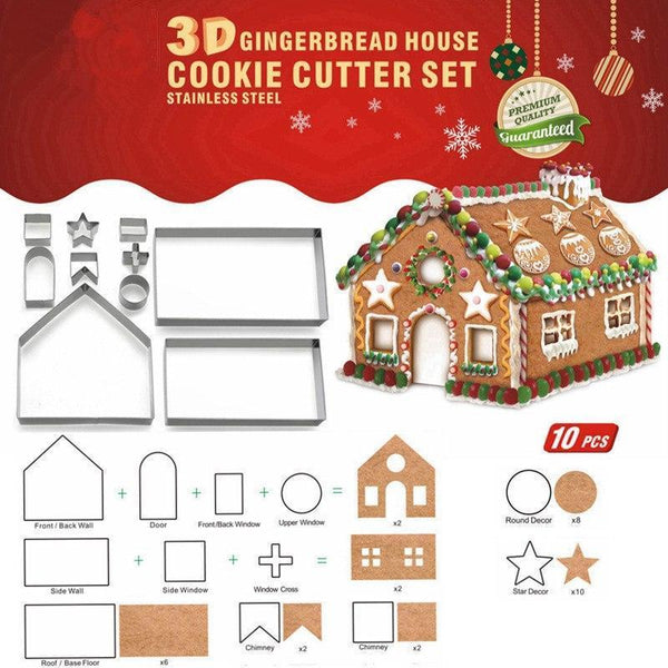 Christmas Gingerbread House.3d Christmas Gingerbread Cookie Cutters