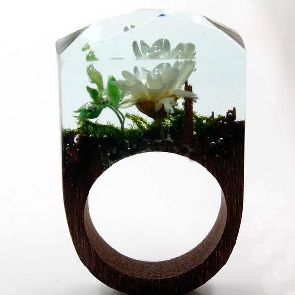 Quanta - Secret Garden Resin Ring