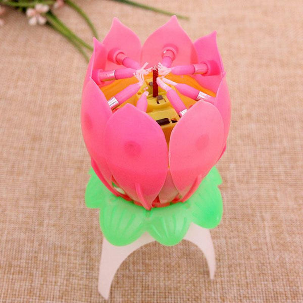 Birthday Lotus Flower Candle