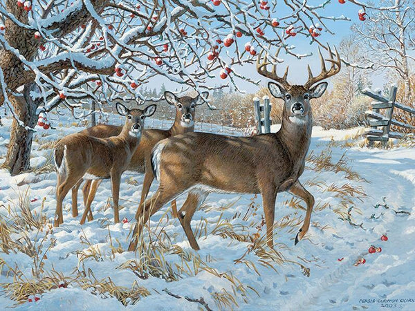 Snowfall on Reindeer - GemPaint™ Kit