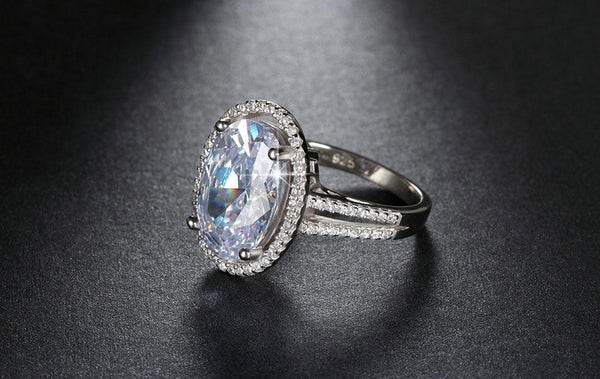 Oval Cut 6ct CZ Ring