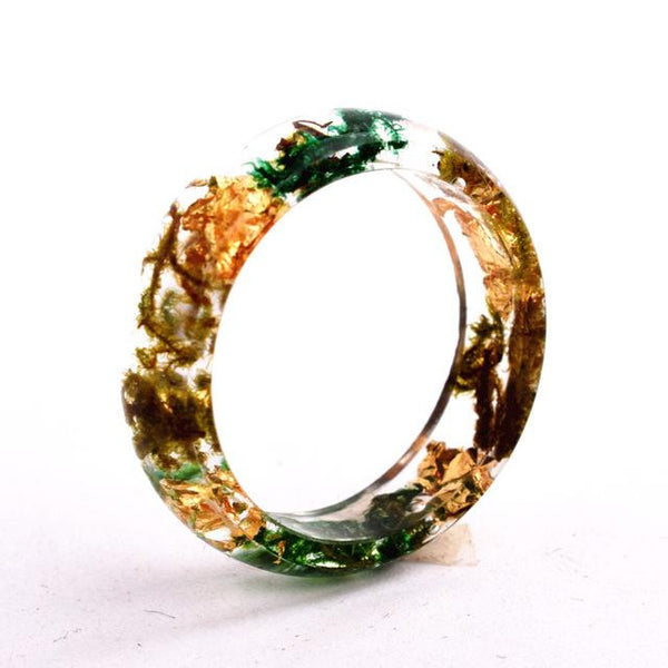 Flower Resin Rings