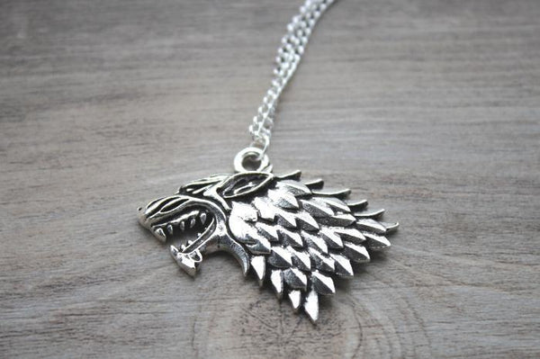 House Stark Direwolf Necklace - Game of Thrones