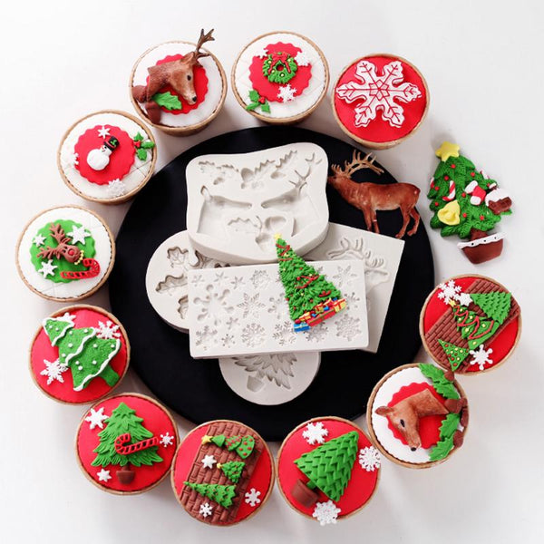 Christmas Silicone Cookie Molds