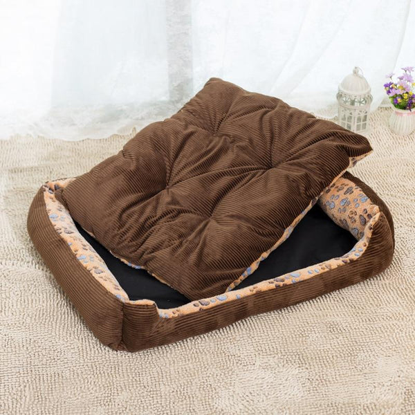 Benji - Corduroy Padded Pet Bed