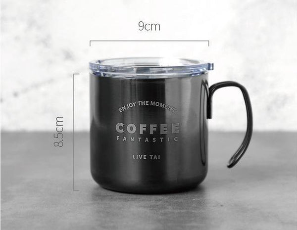 Titanium Vintage Coffee Mug (with lid)