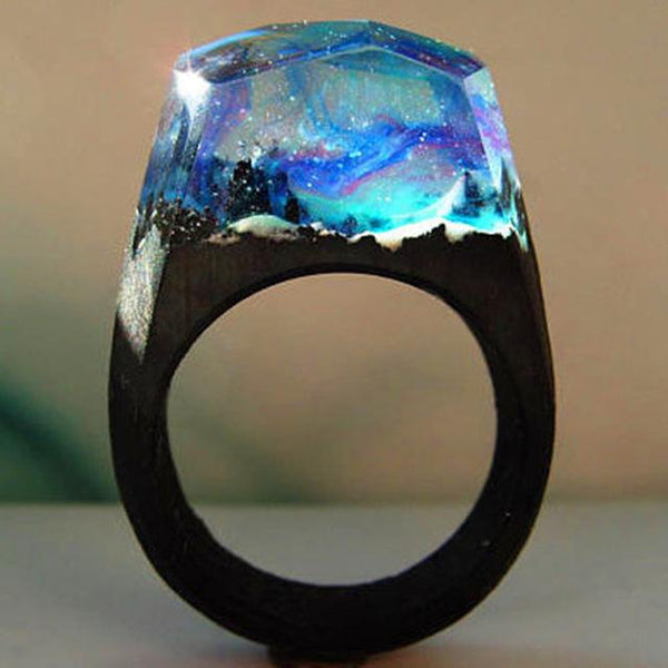 Quanta - Northern Lights Resin Ring