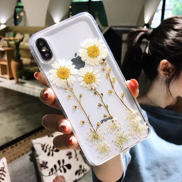 DaisyOats - Real Dried Flowers iPhone Case