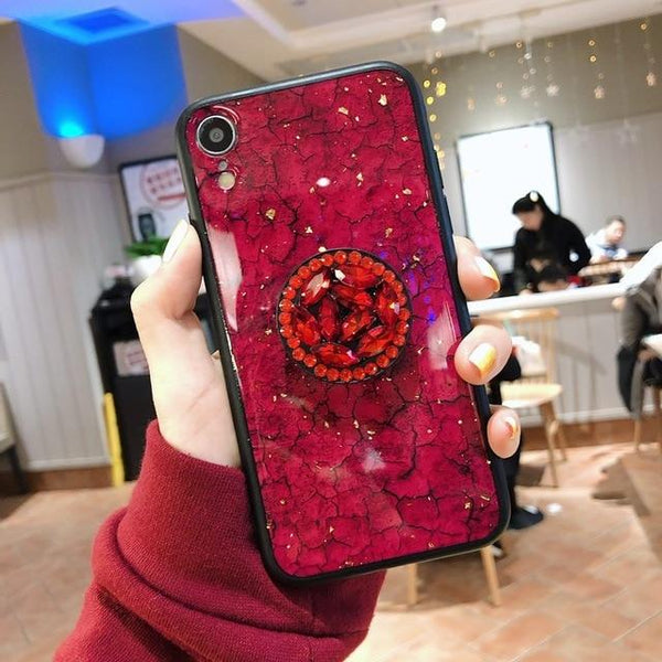 Hanna - Marble Glitter iPhone Mobile Cover