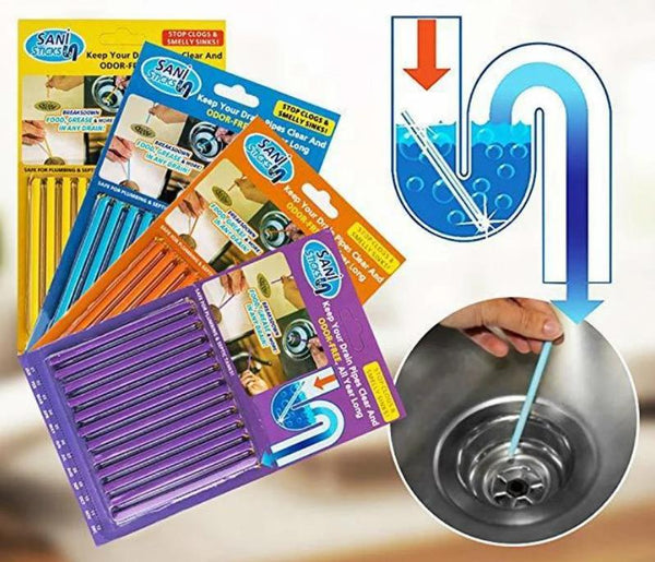 48 Set Drain Cleaning and Deodorizer Sticks