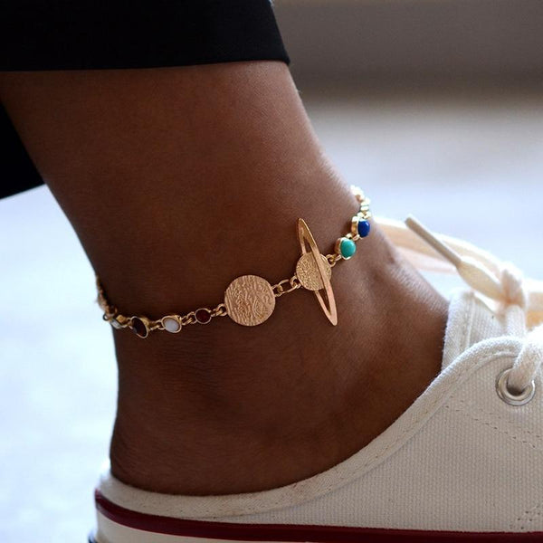 The Milky Way Galaxy Anklet