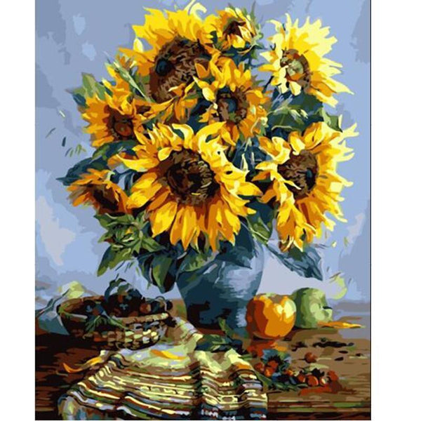 Sunflowers - Van-Go Paint-By-Number Kit