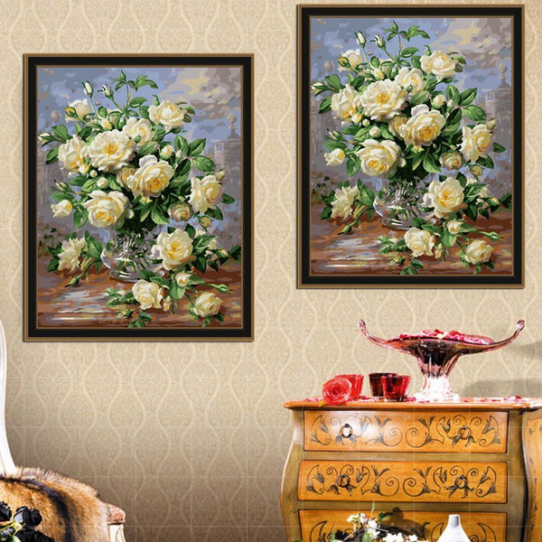 Vase of Roses - Van-Go Paint-By-Number Kit