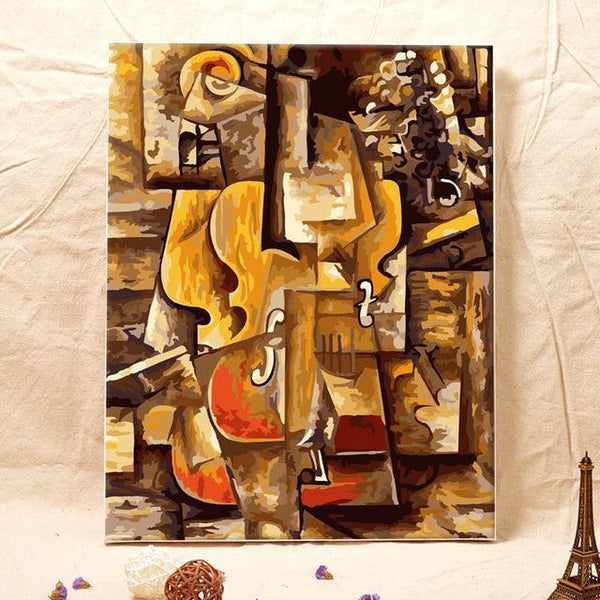 Picasso's Violin and Grapes - Van-Go Paint-by-Number Kit