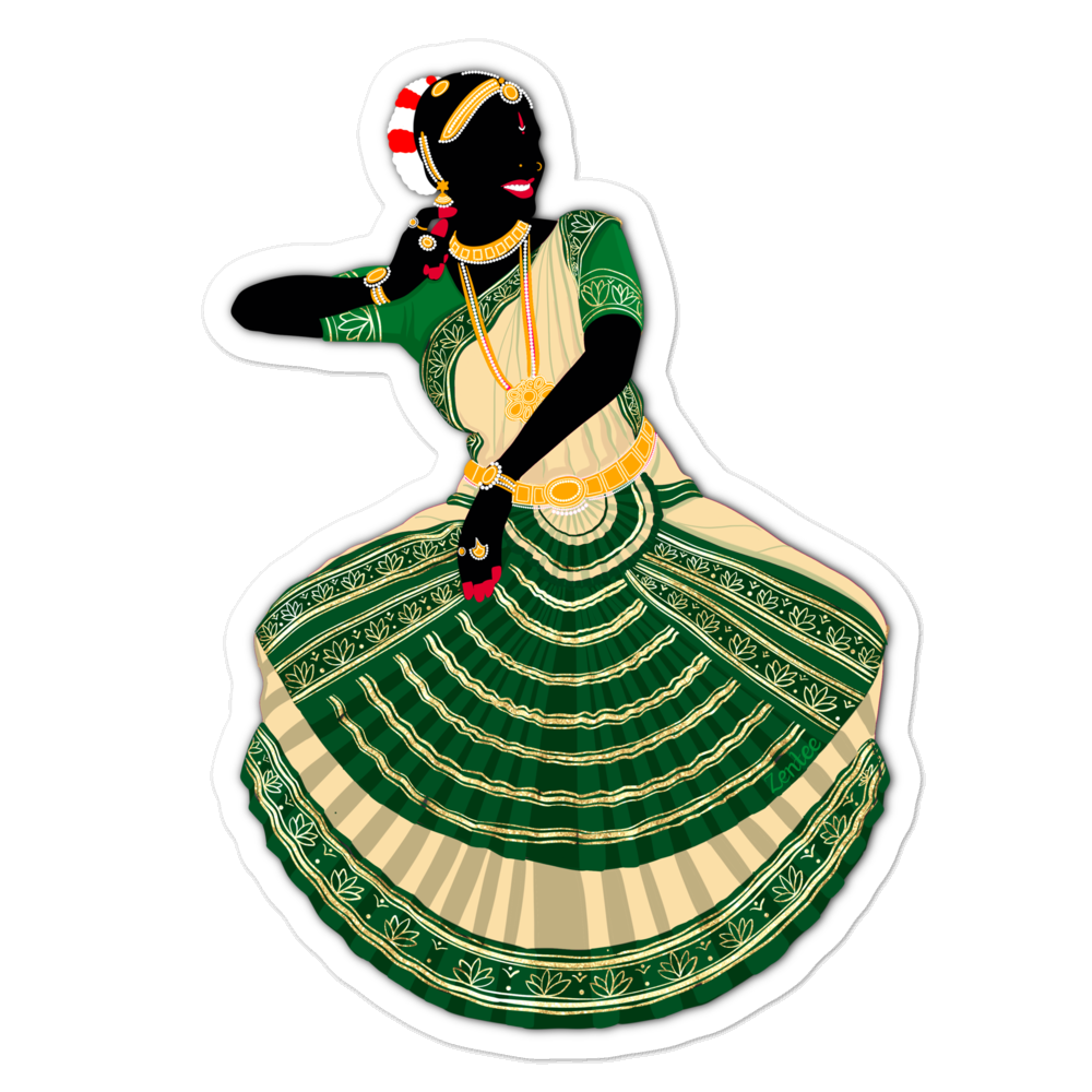 Dancing Queen: Bharatanatyam - Bubble-free stickers