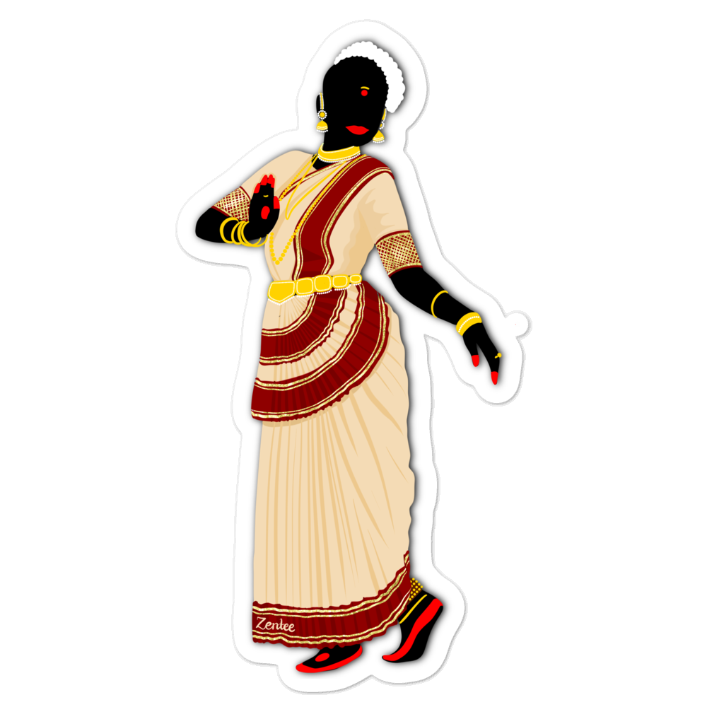 Dancing Queen: Mohiniyattam - Bubble-free stickers