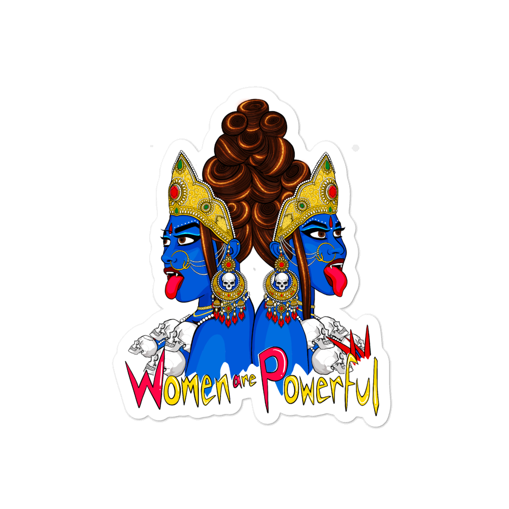 Devi Series: Women Are Powerful - Bubble-free stickers