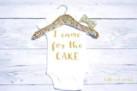 I Came For The Cake Mommy and Me Shirt Set