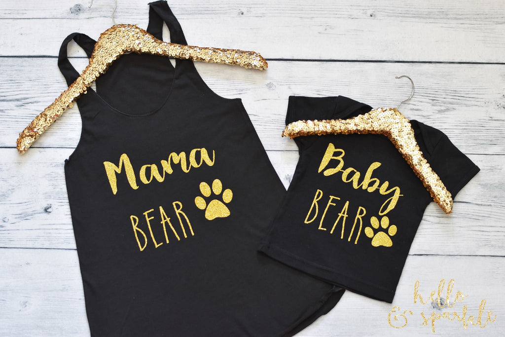 Mama Bear and Baby Bear Mommy and Me Outfit