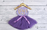 Second Birthday Tutu Dress Purple