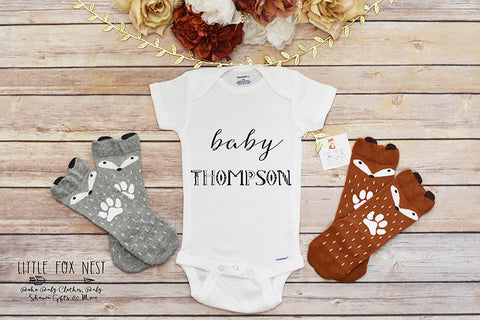 Personalized Name Take Home Onesie, Take Home Outfit