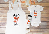 Baby Shower Fox Gift Set, Fox Shirt, Mommy and Me Fox Shirts