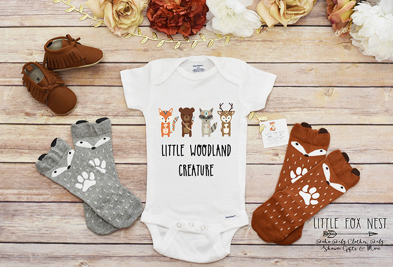 Little Woodland Creature Onesies® brand one-piece underwear by Gerber