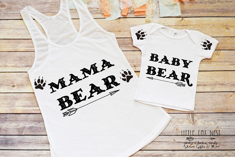 Mama Bear and Baby Bear, Mommy and Me Outfit