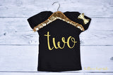 Black and Gold Two T Shirt