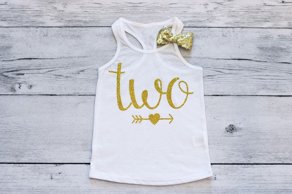 Two Tank Top, Second Birthday Top