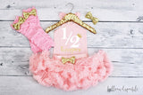 Pink and Gold Half Birthday Outfit