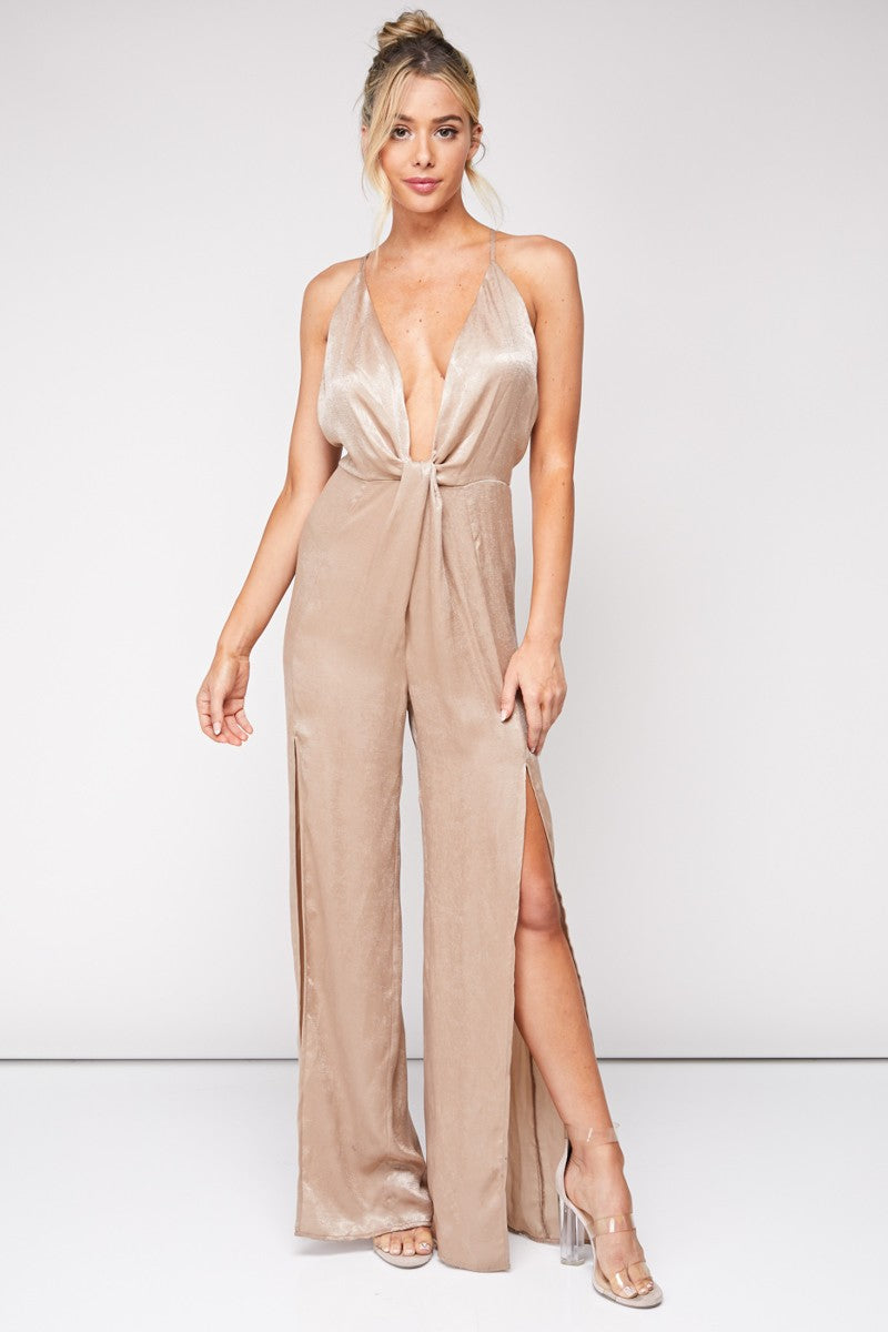 Champagne Please Jumpsuit