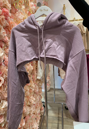 Lilac Cropped Hoodie